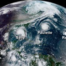 Hurricanes over the Atlantic