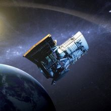 Illustration of the NEOWISE space telescope