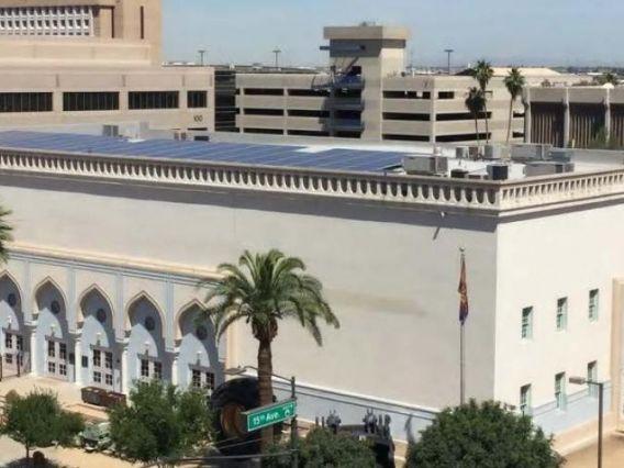 aerial photo of AMMNRE building exterior