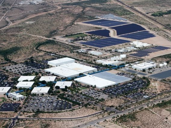 aerial view of UArizona tech park at Rita Road