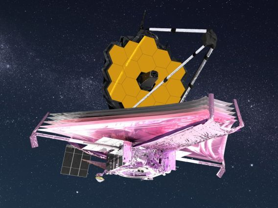 Artist conception of the James Webb Space Telescope.