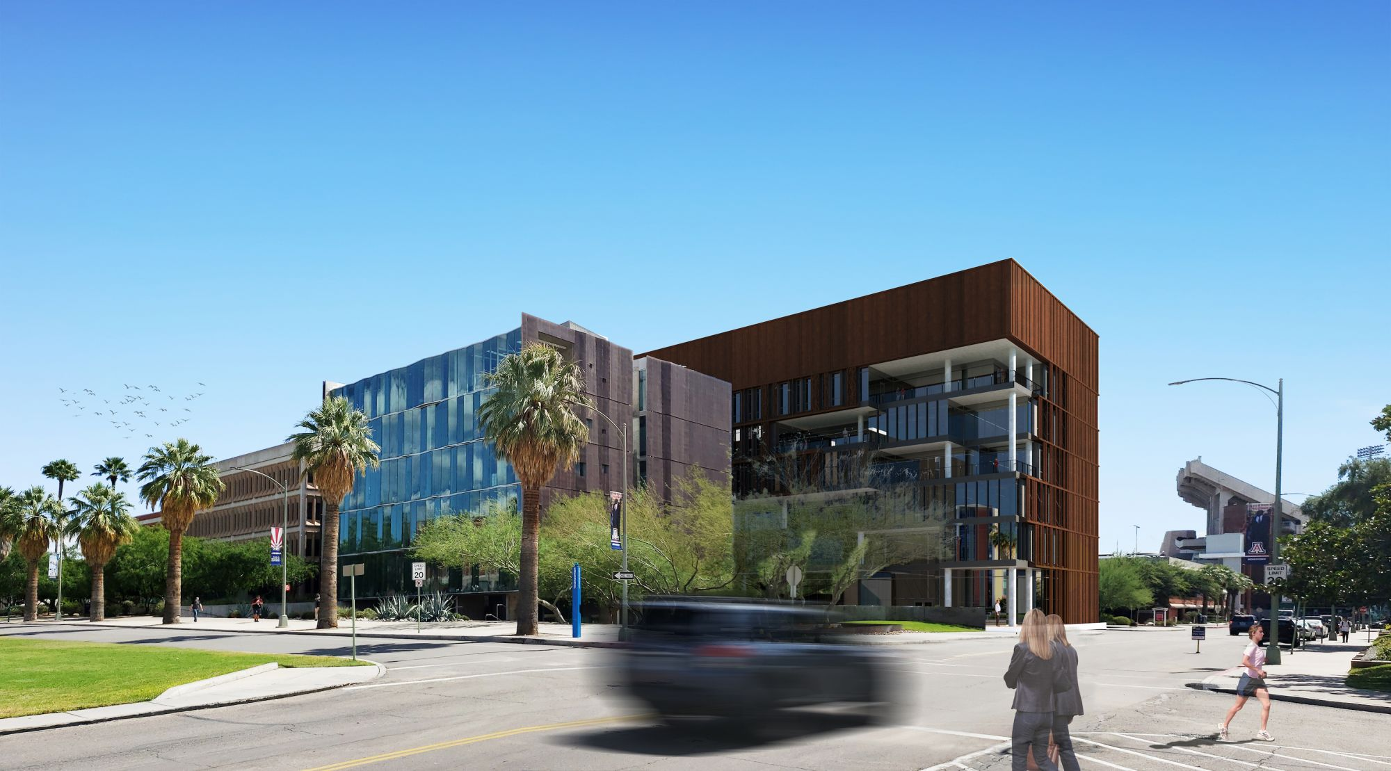 Rendering of planned Grand Challenges Research Building