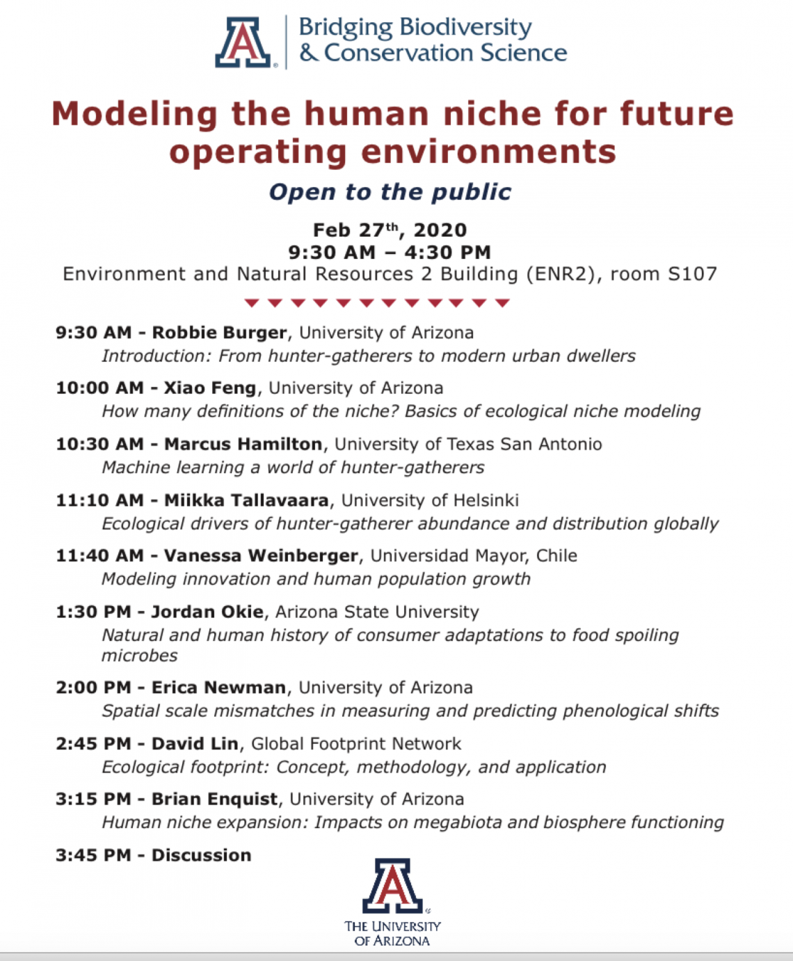 Modeling the human niche for future operating environments