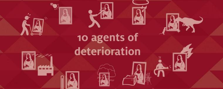 an illustration of the ten agents of deterioration
