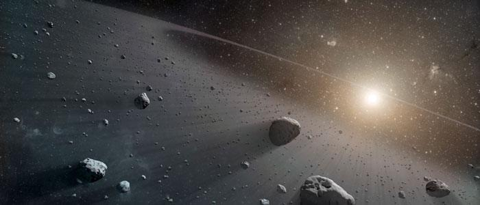 illustration of asteroid belt