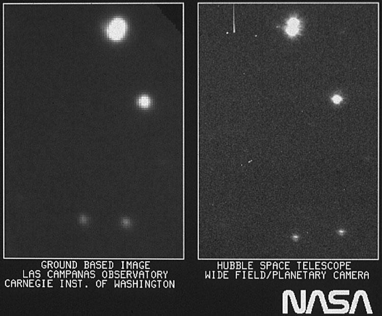 NASA's Hubble space telescope's first light image