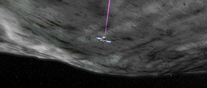University of Arizona run NASA project OSIRIS-REx is surveying the asteroid Bennu with optical lasers