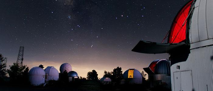 Univeristy of Arizona's Mt. Lemmon SkyCenter Telescopes at night