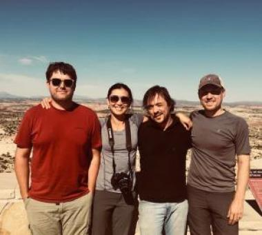 From left to right: Erik Anderson, Jia Hu, Paul Szejner, and Matt Dannenberg at Grand Staircase-Escalante National Monument during their fieldwork travels this summer.