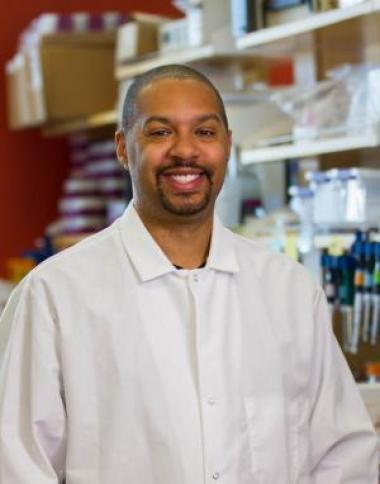 Photo of Michael Johnson in lab