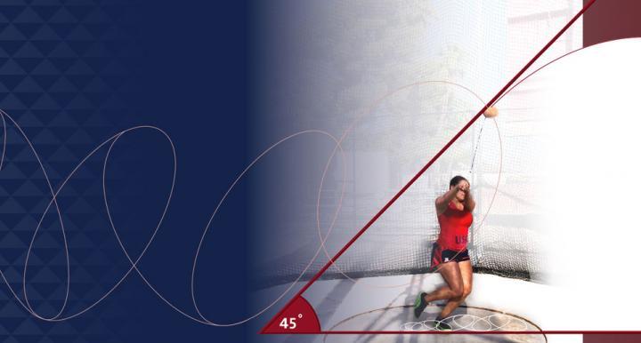University of Arizona athlete demonstrates the physics of the hammer for the olympics